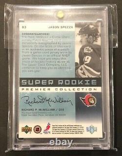 02-03 Ud Premier Collection Super Rookie Patch Auto Jason Spezza /99 #83 Rc