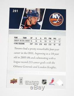 09-10 Upper Deck John Tavares Young Guns Rookie Card 201 Toronto Maple Leafs