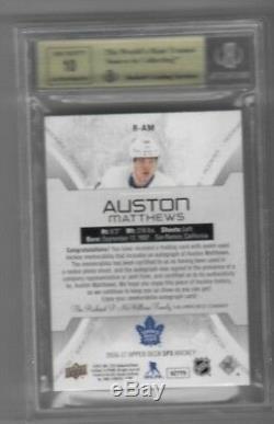 16-17 2016-17 Spx Auston Matthews Black Tag Auto Rookie /5 R-am Bgs 9.5 Leafs Tl