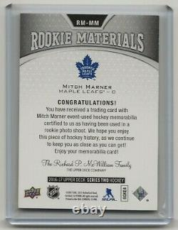 16-17 2016-17 Upper Deck Rookie Materials Patch #RMMM Mitch Marner 01/25 Toronto