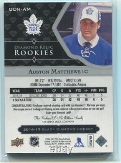 16-17 Black Diamond Rookie Quad Relic BDR-AM Auston Matthews #07/99