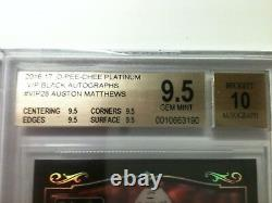 16-17 O-PEE-CHEE PLATINUM AUSTON MATTHEWS ROOKIE AUTOGRAPH 9.5 Only 21 redeemed