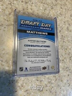 16/17 Sp Game Used Auston Matthews Draft Day Marks Auto 2/10 Toronto Maple Leafs