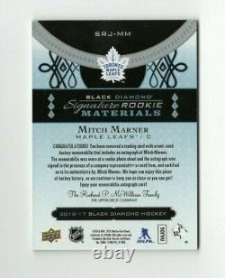 16-17 UD Black Diamond Signature Rookie Materials MITCH MARNER RPA #d/99