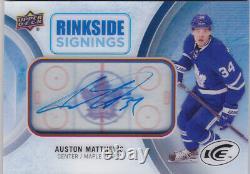 16-17 UD Ice Auston Matthews Auto Rinkside Signings Rookie Maple Leafs 2016