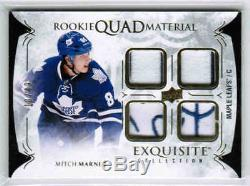 16/17 Ud Exquisite Mitch Marner Rq-mm Quad Material Patch 49 Toronto Maple Leafs