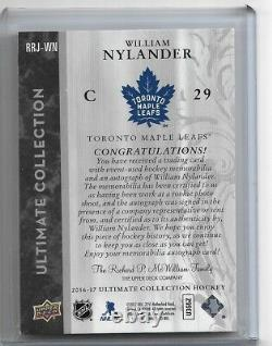 16-17 Ultimate Collections Rookie 2 CLR Patch Auto William Nylander 11/25 SP