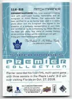 16-17 Upper Deck Premier 03-04 Tribute Rookie Patch/Autograph Mitch Marner 61/99