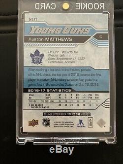 16/17 Upper Deck Series 1 Young Guns #201 Auston Matthews Maple Leafs