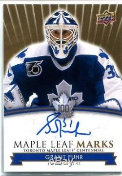 17-18 UD Toronto Maple Leafs Centennial Autograph MLM-GF Grant Fuhr (Group A)