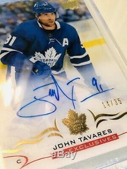18/19 Clear Cut UD Exclusives #CC-JT John Tavares Auto 14/35 Toronto Maple Leafs