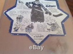 1932-33 O'keefe's Toronto Maple Leafs Blotter Coaster Benny Grant NHL Hockey