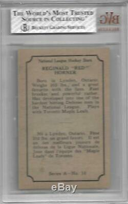 1933-34 O-pee-chee Opc V304a #10 Bvg Bgs 5.5 Reginald Red Horner Rc Maple Leafs