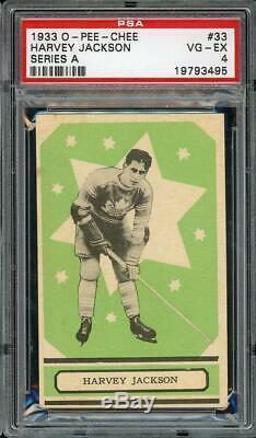 1933 V304A O-Pee-Chee #33 Harvey Jackson Toronto Maple Leafs HOF PSA 4