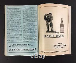 1933 Wrestling Program Maple Leaf Gardens Toronto Hockey Red Indian Gas Oil Ad