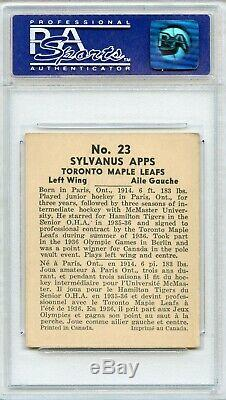 1936 World Wide Gum Syl Apps #23 PSA NM 7, Only 1 better! VERY RARE