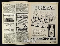 1939 Maple Leaf Gardens NHL Hockey Program Toronto Maple Leafs Boston Bruins VTG