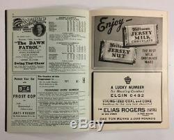 1939 Maple Leaf Gardens NHL Hockey Program Vs New York Americans Complete