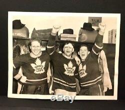1939 Toronto Maple Leafs Vintage Hockey Photo Red Horner McDonald Reg Hamilton