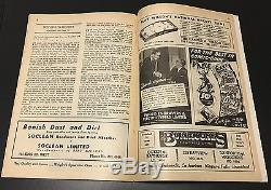 1945 TED KENNEDY Autograph Maple Leafs PROGRAM Toronto vs Boston Vtg Hockey NHL