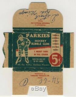 1951-52 Parkhurst Parkies Hockey Pack Wrapper Box Very Rare Fully Intact