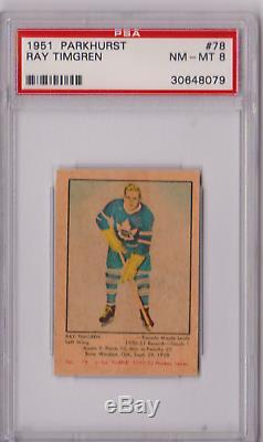 1951 Parkhurst Ray Timgren Rookie #78 PSA 8 P636
