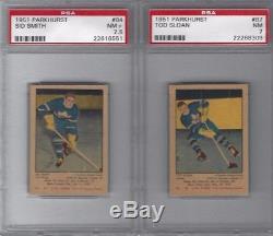 1951 Tod Sloan Parkhurst Rc #87 Psa 7 Nm Toronto Maple Leafs Rookie