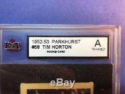 1952-53 Parkhurst RC #58 Tim Horton Original graded Authentic Rookie (trimmed)