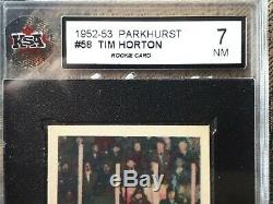 1952-53 Parkhurst Tim Horton ROOKIE- a very-rare legendary card Maple Leafs