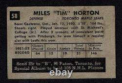 1952-53 Parkhurst Toronto Maple Leafs' Tim Horton Rookie