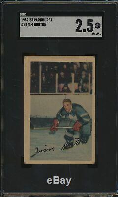 1952 Parkhurst #58 Tim Horton HOF RC SGC 2.5 G+ 52656