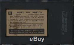 1952 Parkhurst #58 Tim Horton HOF RC SGC 3 VG 53608