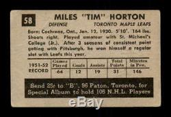 1952 Parkhurst #58 Tim Horton RC G/VG X1661491