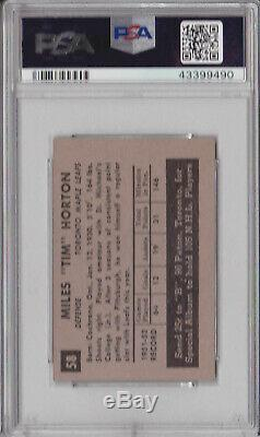 1952 Parkhurst #58 Tim Horton RC Rookie PSA 4 VG-EX