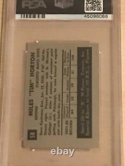 1952 Parkhurst Tim Horton Rookie RC PSA 7 -Very Low Pop, Tough Card