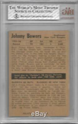 1954-55 Parkhurst #65 Bvg Bgs 5.5 Johnny Bower Rc Rookie Maple Leafs Hof Uer
