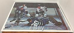 1960's NHL Toronto Maple Leaf PUZZLE vs Chicago Blackhawks Vtg Hockey Jig-Saw