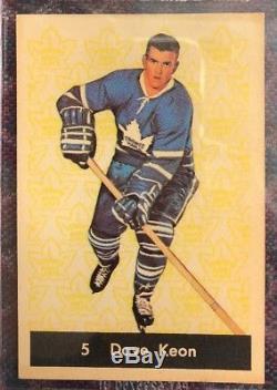 1961-62 Parkhurst Hockey- #5 Dave Keon RC Toronto Maple Leafs-BVG 4.5 VG/EX+