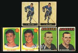 1961 Parkhurst 5 Dave Keon (2) Topps 62 Rod Gilbert (2) 1965 21 Giacomin (2) Rc