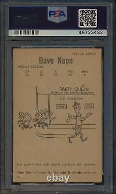 1961 Parkhurst #5 Dave Keon HOF RC PSA 4 VGEX 60238