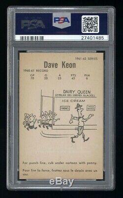1961 Parkhurst #5 Dave Keon Psa 8 Gem Mint 10 Corners Perfect Imagery