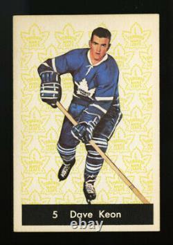 1961 Parkhurst #5 Dave Keon Vg-ex+ Centered High-end Hall Of Fame Rookie Card Rc