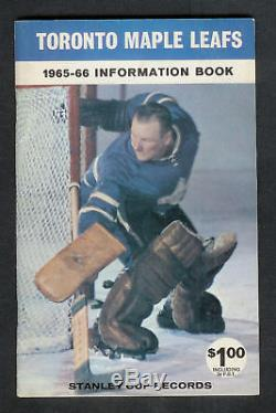 1965-66 Toronto Maple Leafs Media Guide Fact Book MINT