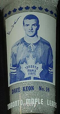 1967/68 Dave Keon York Peanut Butter NHL Hockey Glass Original