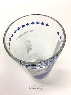 1967-68 Johnny Bower York Peanut Butter Glass VTG NHL Hockey Toronto Maple Leafs