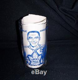 1967-68 York Peanut Butter Glass George Armstrong Toronto Maple Leafs Fire King