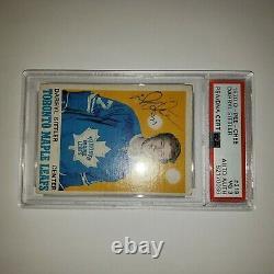 1970-71 O-pee-chee Autograph Rookie Psa 3 Vg Darryl Sittler Rc #218 Psa Dna Cert