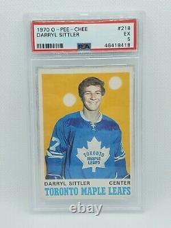 1970-71 Opc #218 Darryl Sittler Rookie Card Psa 5 Ex