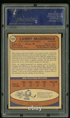 1974 74-75 OPC O-PEE-CHEE LANNY McDONALD RC ROOKIE PSA 8 NM #168 HOF OLD LABEL