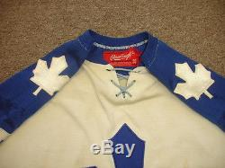1974 Willie Brossart Toronto Maple Leafs Game Used Tie Down Durene Hockey Jersey